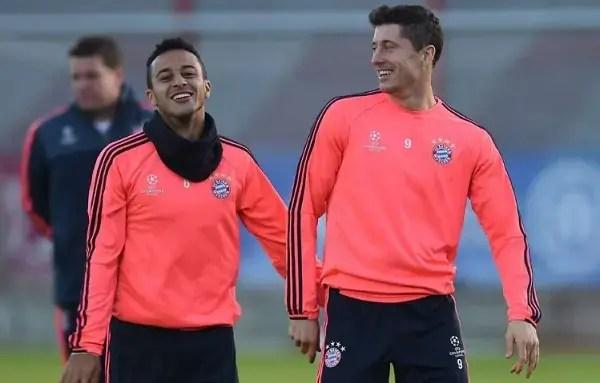 Thiago y Lewandowski