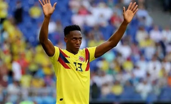 Yerry Mina con Colombia