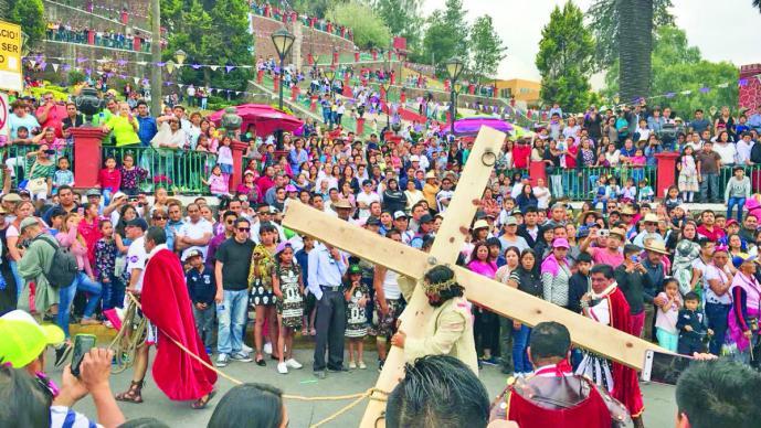 Resultado de imagen de La Pasión de Cristo en Iztapalapa