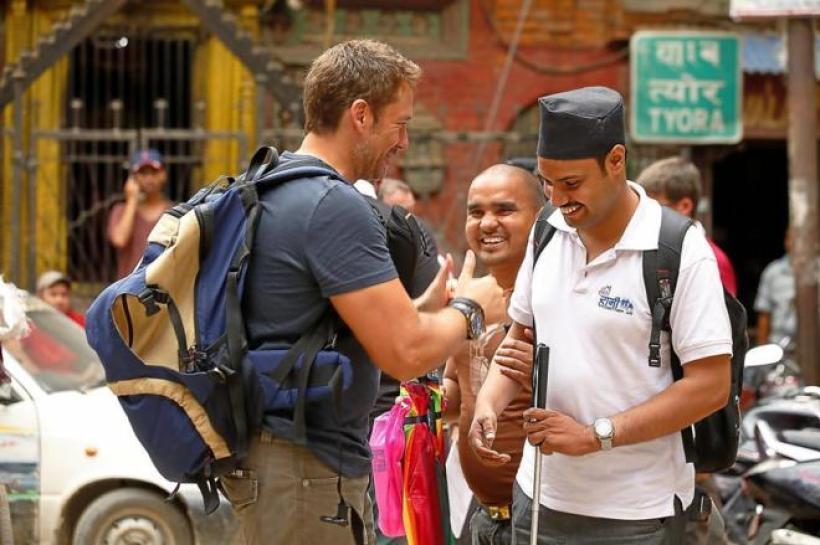 """Momento de rodaje de """"Rising Nepal"""""""