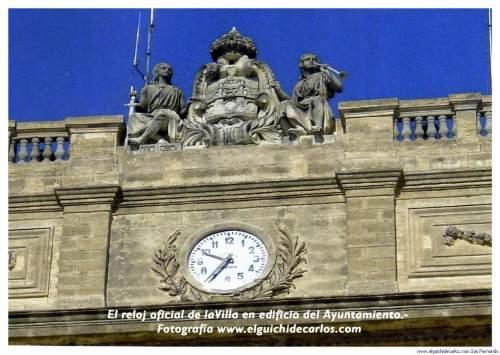 Relojes de San Fernando. El Ayuntamiento