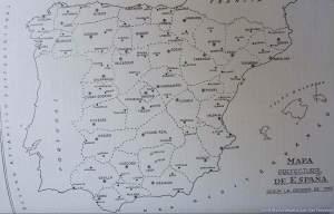Mapa prefectural de España según la división de 1810. Aportado por As de Guía.