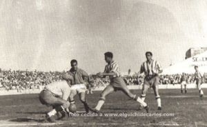 San Fernando - Granada Partido Inauguración 2º División Temporada 1954-1955.-