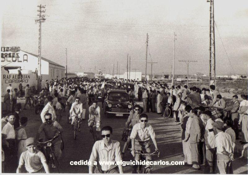 una de las llegadas a la ciudad después de haber cosechado una victoriaFotografía cedida por la familia Devesa a www.elguichidecarlos.com