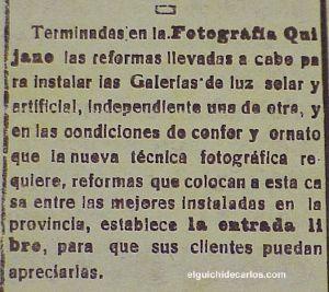 Fotógrafos de La Isla. Anumcio de Quijano en prensa