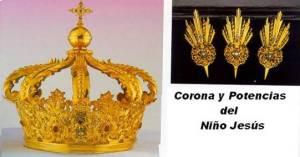 Corona y Potencias del niño de la Virgen del Carmen