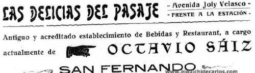 Las delicias del pasaje publicidad de 1926