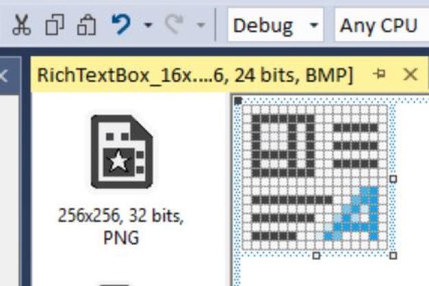 Figura 6. Aspecto al pegar la imagen copiada en la memoria en el icono