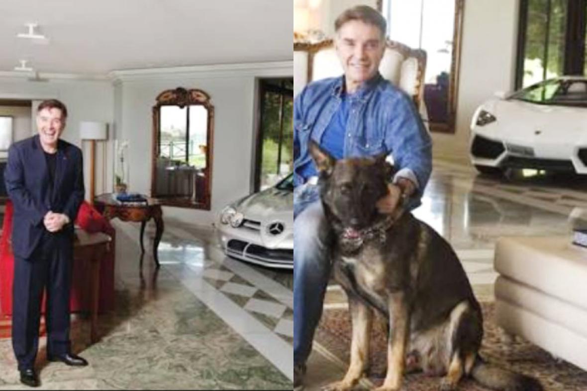 Unas de las excentricidades de Eike era  coleccionar coches, como el Lamborghini Aventador con el que aparece aquí en la sala de su mansión, el cual terminó vendiendo por un millón de dólares,   en el inicio del desplome económico.