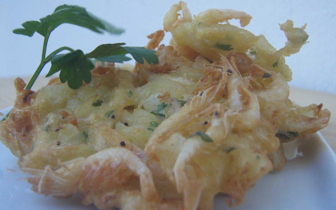 Tortillitas de camarones, clásico gaditano!