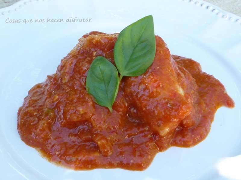 Dorada en tomate con mucho sabor ;-)