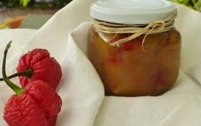El maravilloso mundo del Chutney. Hoy de habanero naranja, pasas rubias y mango