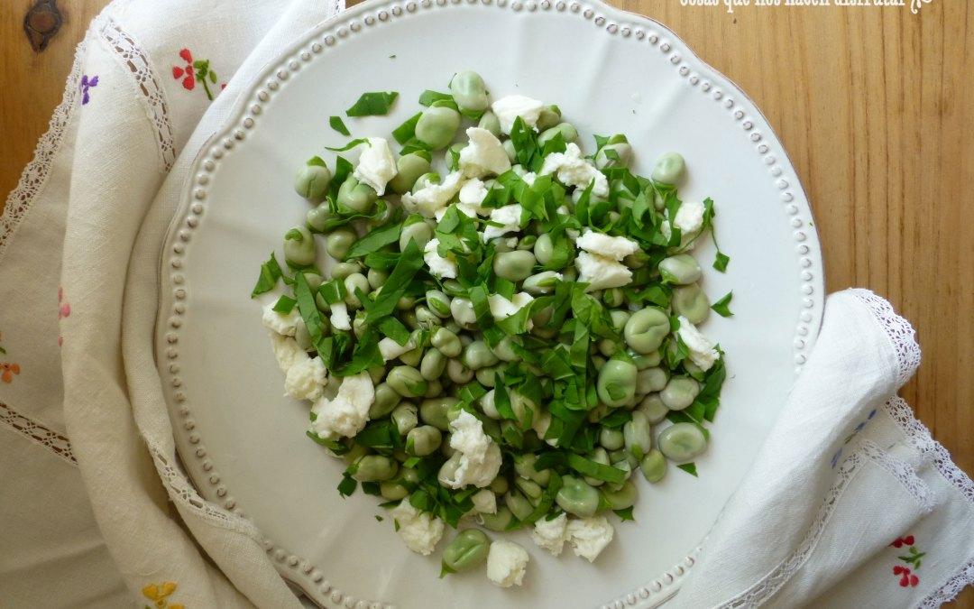 Receta para Love My Salad: Ensalada de Habitas con Rúcula y Mozzarella