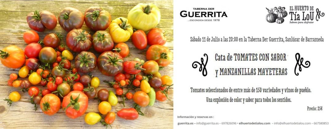 Cata de Tomates con Sabor y Manzanillas Mayeteras - El Hueto de Tia lou y Taberrna der Guerrita