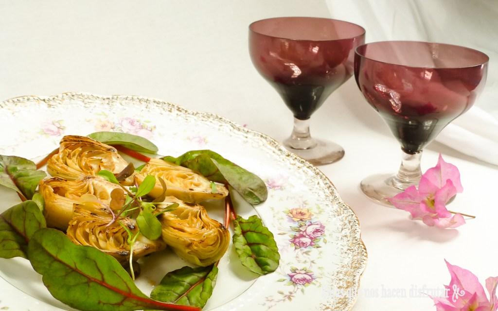 Receta para San Valentín: Ensalada de Alcachofas, con mucho corazón.