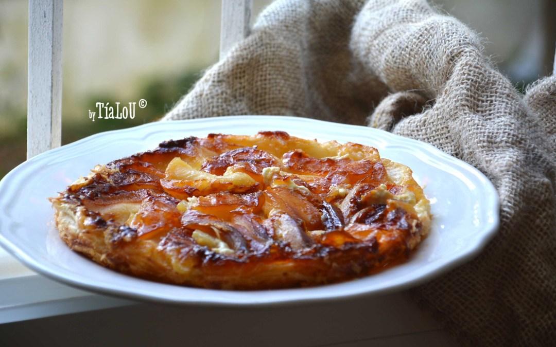 Tatín de manzana con mascarpone y  miel