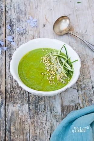 Crema verde de calabacín y espinacas