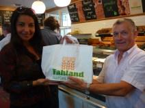 Sr.Fahland e Eliana Printes na Backerei Farland