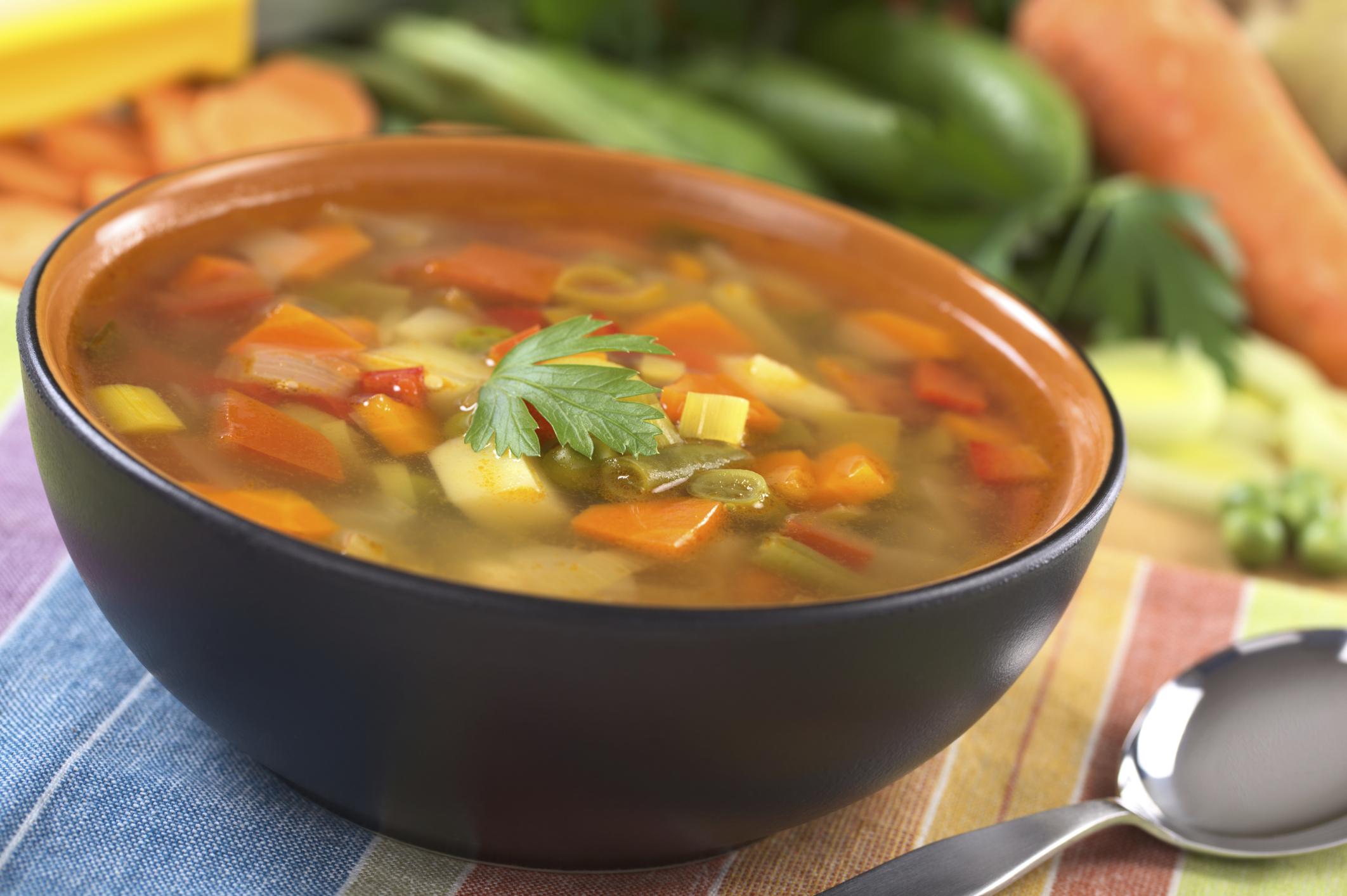 Dieta de la sopa de verduras para bajar de peso