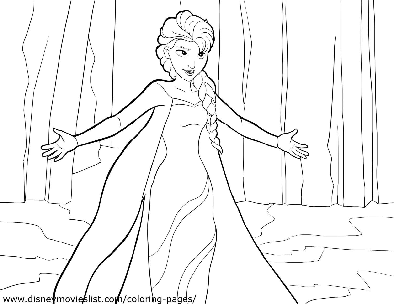 elsa bosque frozen colorear page 001 2   Eliana Tardio