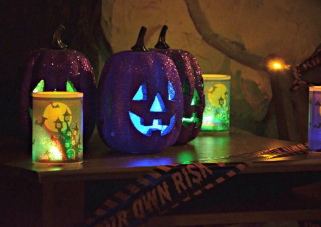 decoraciones-halloween-económicas-calabazas- luces