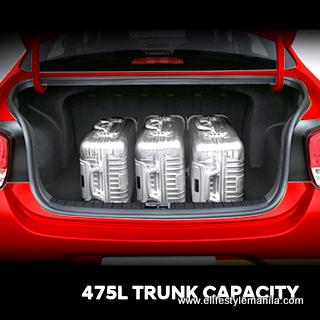 Hyundai Reina cargo space (trunk)