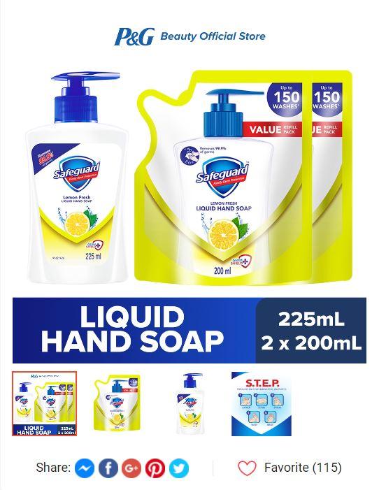 liquid hand soap plus 2 refills