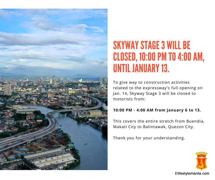 Skyway 3 extends night time closures for work completion