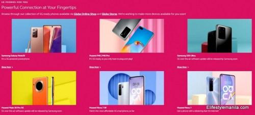 Globe Telecom 5G devices