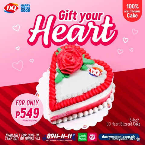 Dairy Queen heart shaped blizzard cake