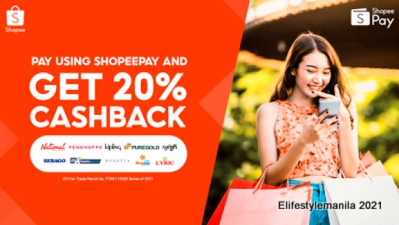 Get 20% cashback from ShopeePay