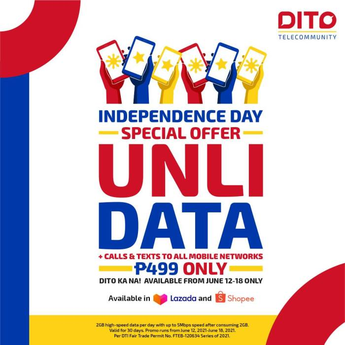 DITO unlidata independence day promo