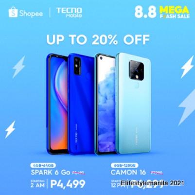 Tecno Mobile shopee 8.8 deals