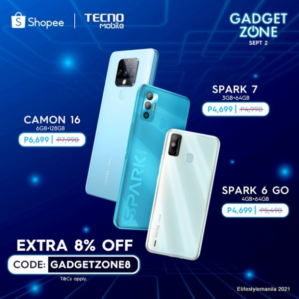 TECNO Mobile in Shopee