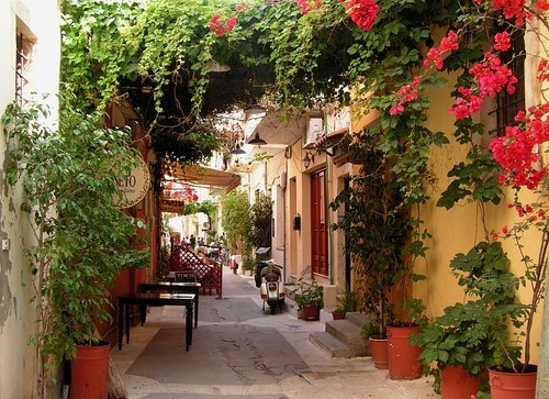 Side Street, Isle of Crete, Greece