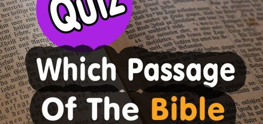 Quiz - Which Passage Of The Bible Best Describes You?