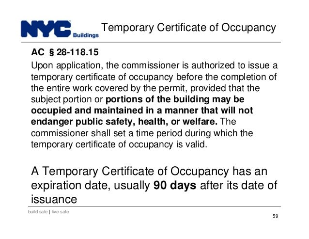 What is the Certificate of Occupancy?