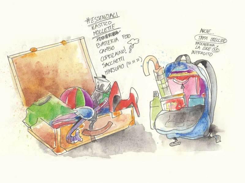 10 cose utili da mettere in valigia - Illustrazione di Luca Braidotti