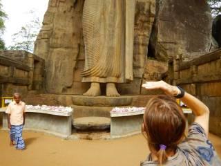 Sri Lanka statua di Aukana