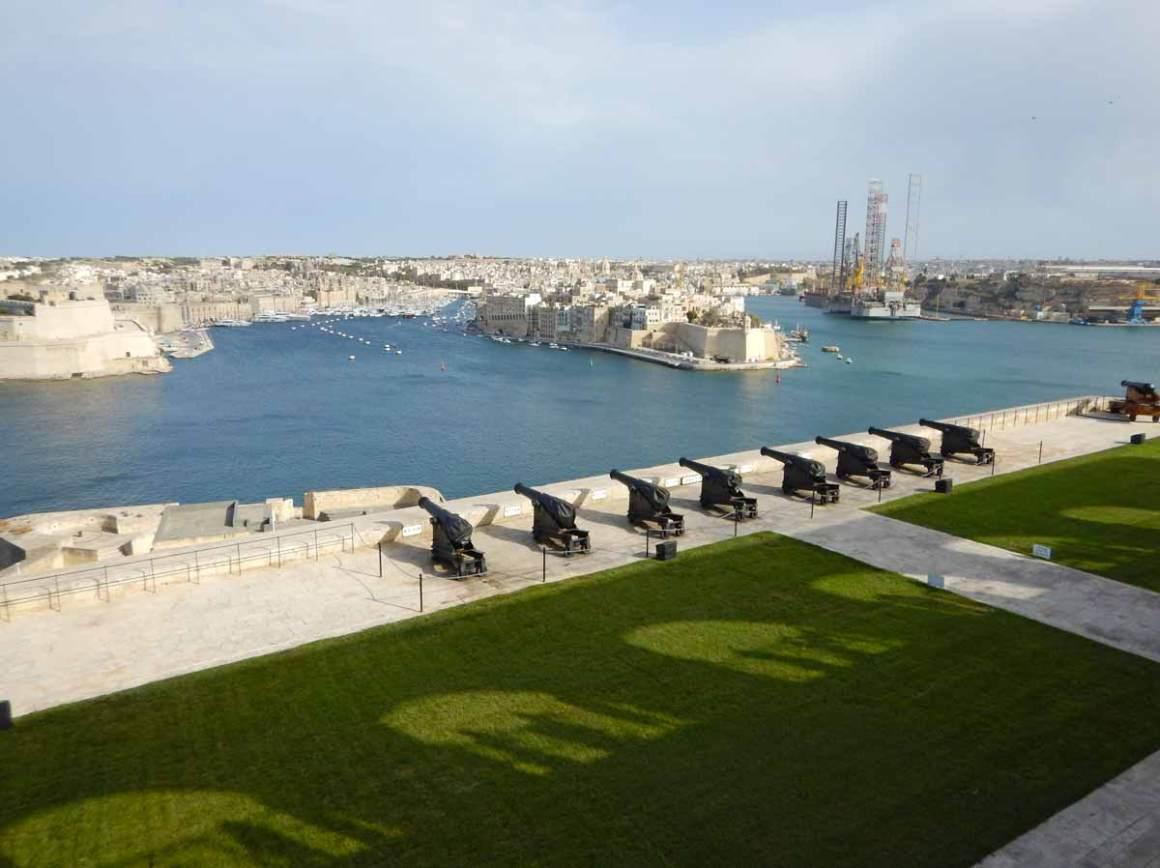 Upper Barrakka Gardens a La Valletta, Malta