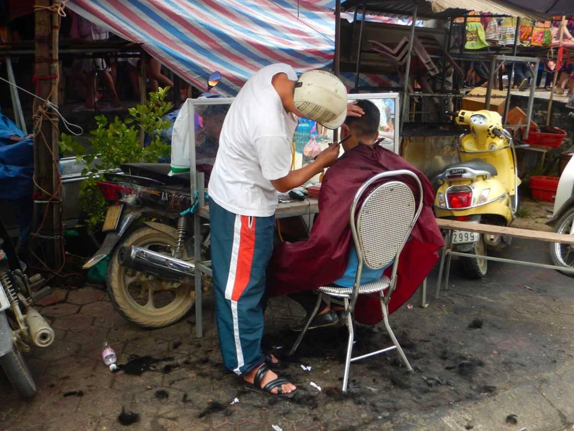 Barbiere in Vietnam