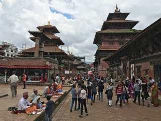 Patan durante la festività Janai Purnima ad agosto, Nepal
