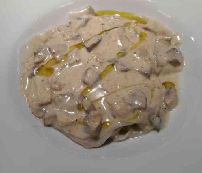 Beef Agnolotti with Creamy Mushroom Sauce (a dinner reboot)