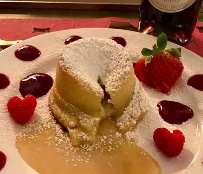 Valentine's Violette Lava Cakes