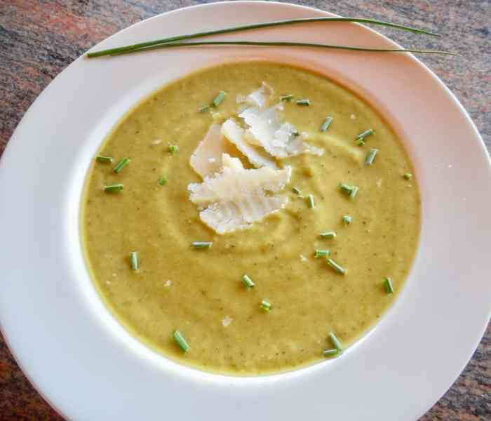 Fresh and Easy Zucchini Basil Soup