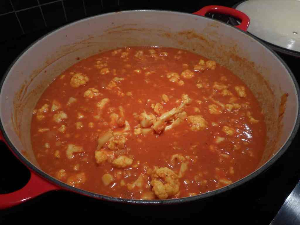 Curried Cauliflower Lentil Coconut Soup TravelFoodCool