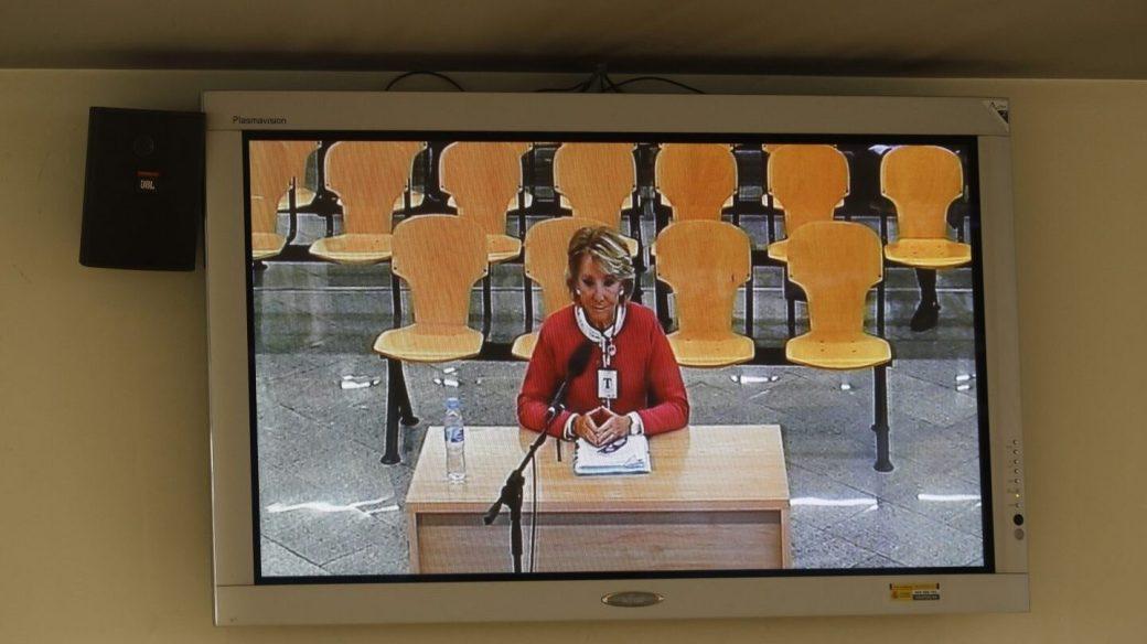 Esperanza Aguirre, ante el tribunal de Gürtel.