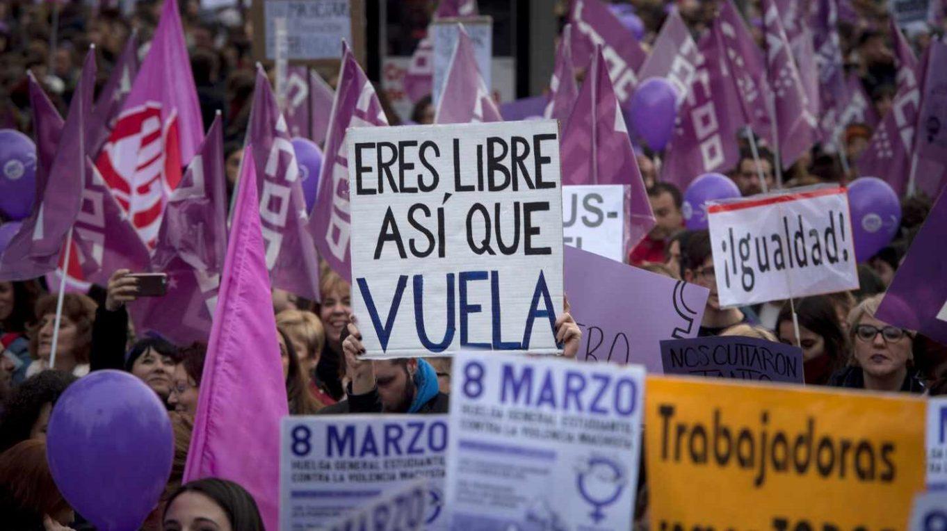 Manifestación feminista en Madrid.