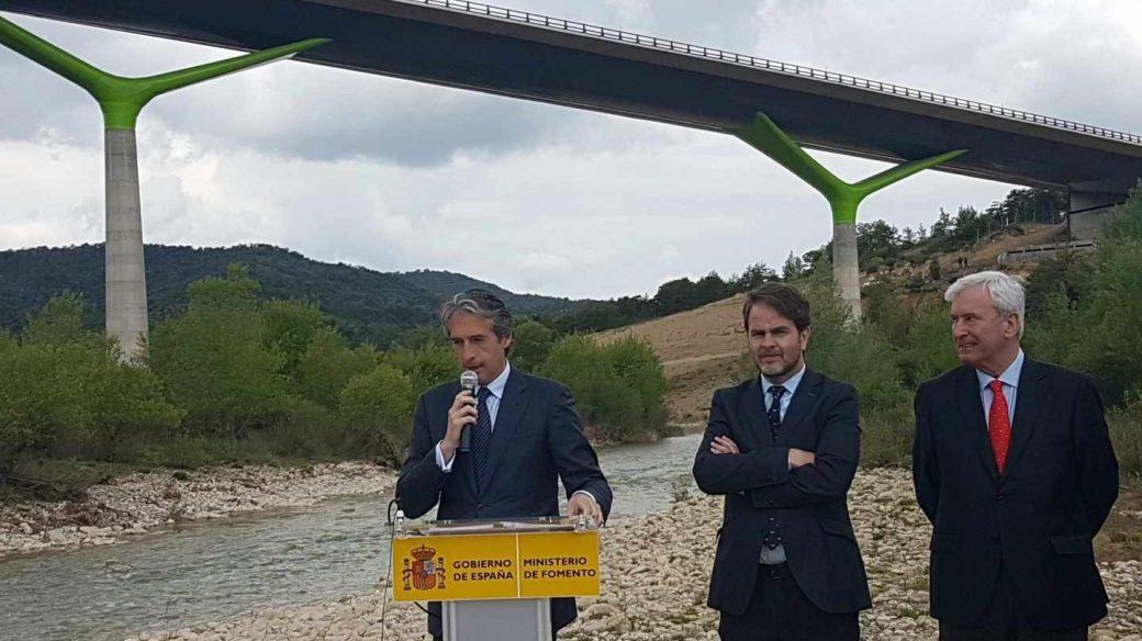 De la Serna visita las obras de la A 23 (Sagunto-Somport) el pasado 21 de mayo.