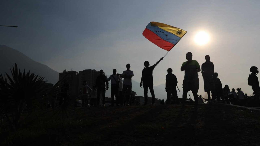 Ciudadanos venezolanos, este martes en Caracas.